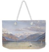 The Mountains Of St Gingolph Weekender Tote Bag