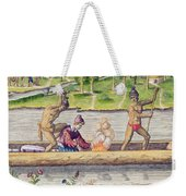 The Murder Of A Frenchman Weekender Tote Bag