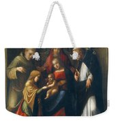 The Mystic Marriage Of St Catherine Weekender Tote Bag