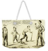 The National Game - Abraham Lincoln Plays Baseball Weekender Tote Bag