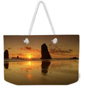 The Needles At Haystack - Cannon Beach Sunset  Weekender Tote Bag