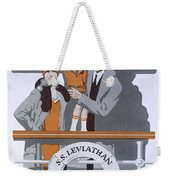 The New Holiday, Vintage Travel Poster Weekender Tote Bag
