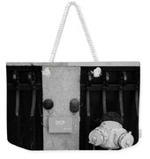The New Normal In Black And White Weekender Tote Bag