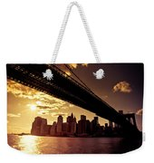 The New York City Skyline - Sunset Weekender Tote Bag