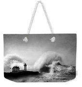 The Nubble In Trouble Weekender Tote Bag by Lori Deiter