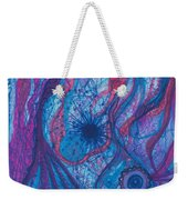 The Ocean's Blue Heart Weekender Tote Bag by Daina White