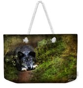 The Old And Not Too Bad Wolf Weekender Tote Bag