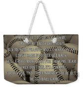 The Old Ballgame Weekender Tote Bag