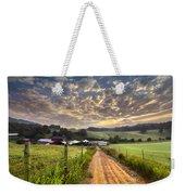 The Old Farm Lane Weekender Tote Bag by Debra and Dave Vanderlaan