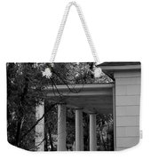 The Old Homestead In Black And White Weekender Tote Bag