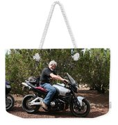 The Old Man On The Motorcycle Weekender Tote Bag