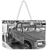The Old Retro Truck Weekender Tote Bag