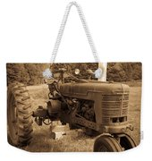 The Old Tractor Sepia Weekender Tote Bag