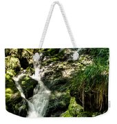 The Old Troll Caught By The Sun Admiring The Forest Waterfall Weekender Tote Bag