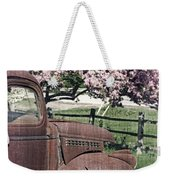 The Old Truck And The Crab Apple Weekender Tote Bag