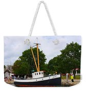 The Old Tugboat At Mystic Weekender Tote Bag