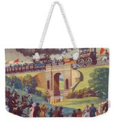 The Opening Of The Stockton And Darlington Railway Macmillan Poster Weekender Tote Bag by Norman Howard