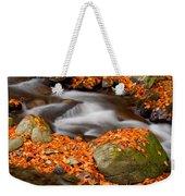 The Orange Stream Weekender Tote Bag
