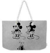 The Original Mickey Mouse Patent Design Weekender Tote Bag