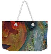 The Other Left Abstract Portrait Weekender Tote Bag