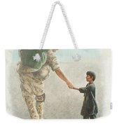 The Outcome Of War Is In Our Hands Weekender Tote Bag