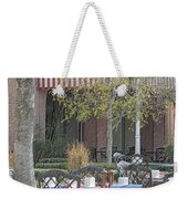 The Outdoor Cafe Weekender Tote Bag