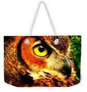 The Owl's Eye Weekender Tote Bag