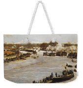 The Oxford And Cambridge Boat Race Weekender Tote Bag by James Macbeth