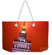 The Palace Of Culture And Science Warsaw Poland  Weekender Tote Bag by Michal Bednarek