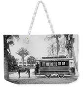 The Palm Beach Trolley Weekender Tote Bag