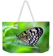 The Paper Kite Or Rice Paper Or Large Tree Nymph Butterfly Also Known As Idea Leuconoe 2 Weekender Tote Bag