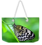 The Paper Kite Or Rice Paper Or Large Tree Nymph Butterfly Also Known As Idea Leuconoe Weekender Tote Bag