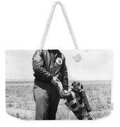 The Parachute Pup Weekender Tote Bag