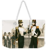 The Parisian Municipale Guard, Formed 29th July 1830 Coloured Engraving Weekender Tote Bag