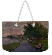 The Park Bench Weekender Tote Bag