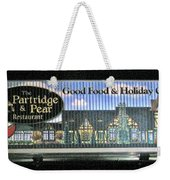 The Partridge And Pear Restaurant Weekender Tote Bag