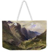 The Pass Of Glencoe, 1852 Weekender Tote Bag by William Bennett