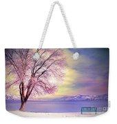 The Pastel Dreams Of Winter Weekender Tote Bag