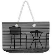 The Patio Chairs In Black And White Weekender Tote Bag