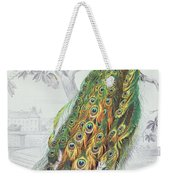 The Peacock Weekender Tote Bag by A Fournier