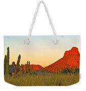 The Peak And Cardon Cacti In The Sunset In San Carlos-sonora Weekender Tote Bag
