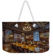 The Periodical Room At The New York Public Library Weekender Tote Bag