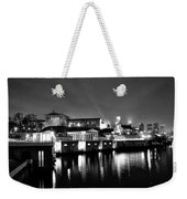 The Philadelphia Waterworks In Black And White Weekender Tote Bag by Bill Cannon