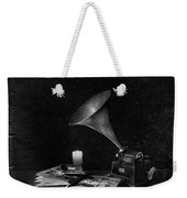 The Phonograph 4 Mono Weekender Tote Bag