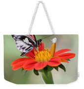 The Piano Key Butterfly Weekender Tote Bag