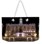 The Piazza Del Campidoglio At Night Weekender Tote Bag