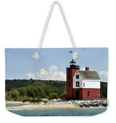 Round Island Lighthouse Mackinac The Picnic Spot Weekender Tote Bag