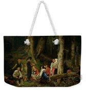 The Pilgrims From The Abbey Of St. Odile Oil On Canvas Weekender Tote Bag