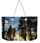 The Pines At Sunset Weekender Tote Bag