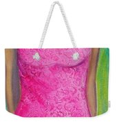 The Pink Dress Weekender Tote Bag